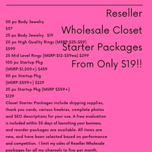 RESELLER WHOLESALE PACKAGES Details